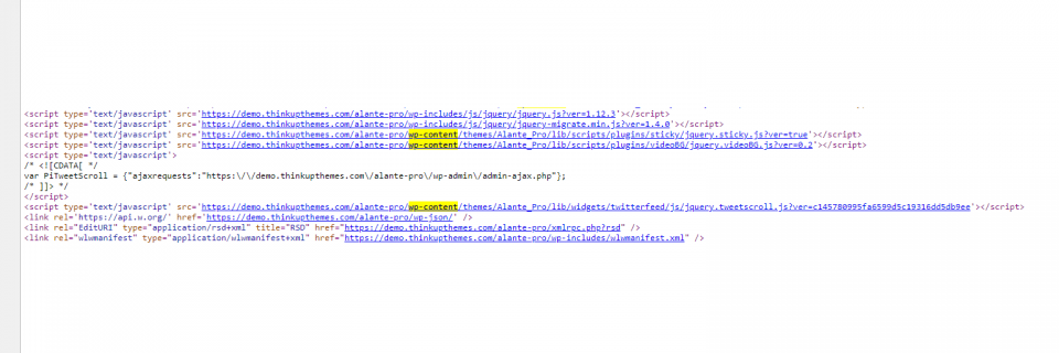 How to Tell if a Website is Using WordPress - Source code
