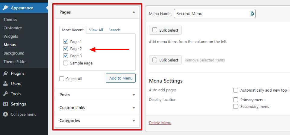 How to Add or Edit Menus in WordPress 3