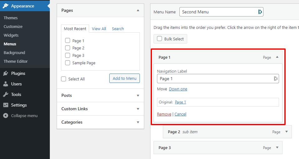 How to Add or Edit Menus in WordPress 6