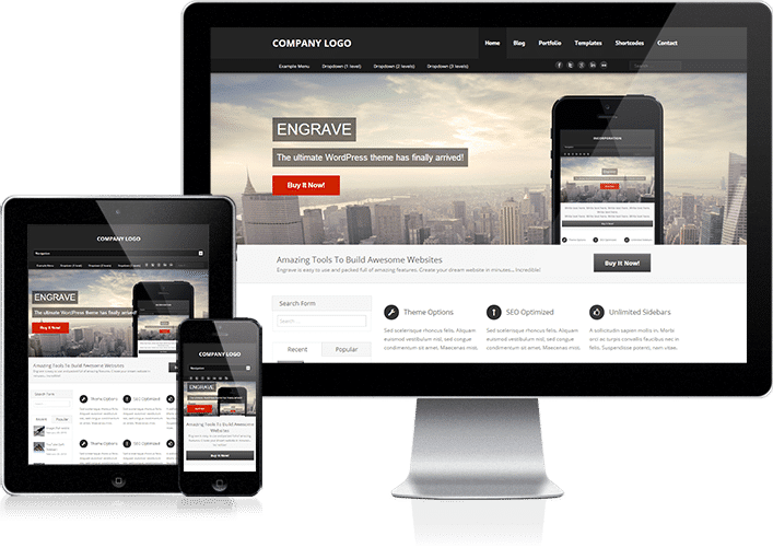 Engrave pro premium wordpress theme for What wordpress template is this